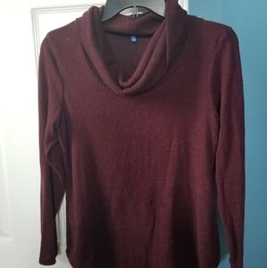❤2 for $10 Burgundy cowl neck sweater